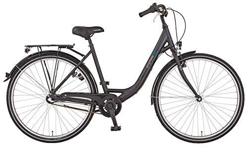 """Prophete Unisex– Erwachsene GENIESSER 20.BSC.10 City Bike 28\"""" Fahrrad, schwarz, RH 50"""