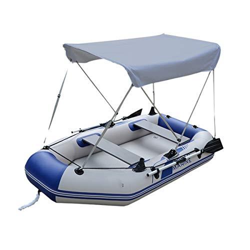 PUGONGYING 2 Refugio Persona Sun en Forma for el Barco de los Pescados Impermeable Inflables Barco de remos Sombrilla Carpa toldo Cubierta de la Lluvia UV Protect Oxford