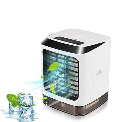 Personal Portable Air Conditioner Air Cooler 120°Auto Humidified Air Cooler Portable AC Conditioner for Small Room 3 Cooling Levels, Perfect for Office Desk, Dorm, Bedroom and Outdoors KissGangel