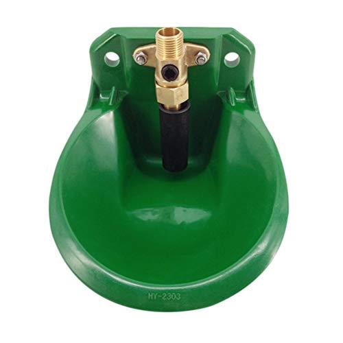 Tigela De Água Potável Automática De Ovelhas Tigela De Água Potável De Ovelhas (Válvula De Cobre De Plástico Verde Tigela De Líquido Amniótico)