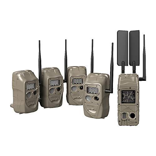 Cuddeback CuddeLink J Series Long Range IR 20MP Trail Camera (4-Pack), Essentials Bundle (2 Items)