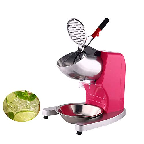 Best Deals! Electric Ice Shaver Snow Cone Maker Machine Silver 143lbs/hr for Home and Commercial Use...