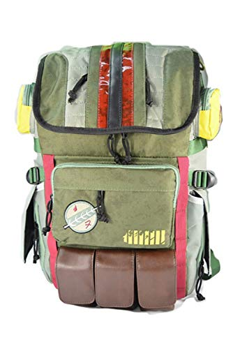 dolass Boba Fett Backpack Movie Cosplay Bag School Bag Laptop Backpack Travel Bag 12.6 * 7.9 * 18.9 Inch Green