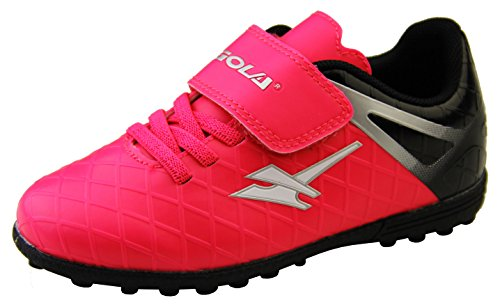 Gola Jungen Mädchen Activo5 Astroturf Fußballschuhe Sports Turnschuhe Pink Rosa und Schwarz ,EU 26 (UK 8)