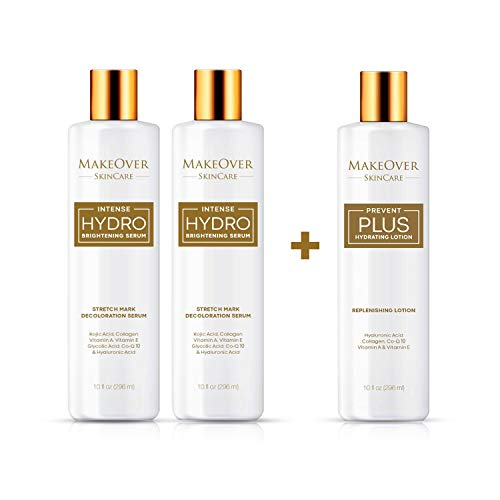 MakeOver SkinCare Bundle - Intense Hydro Brightening Serum - Stretch Mark Removal + Prevent Plus – Stretch Marks & Scar Prevention