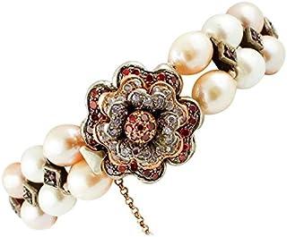 Bracciale di Perle con Chiusura a Fiore