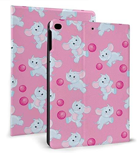 Funda Inteligente de Cuero PU Pink Elephant Función de Reposo / activación automática para iPad Mini 4/5 7,9 'y iPad Air 1/2 9,7' Funda