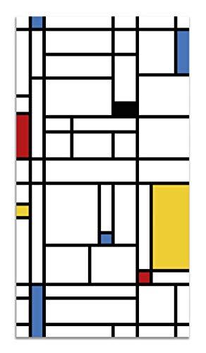 Panorama Alfombra Vinílica Mondrian 120x160 cm - Alfombra Cocina Vinilo - Alfombra Salón Antideslizante, Antihongos e Ignífuga - Alfombras Grandes - Alfombras PVC