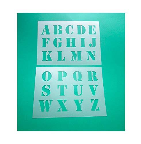 Alphabet - große Druck Buchstaben 5cm hoch 2 Schablonen