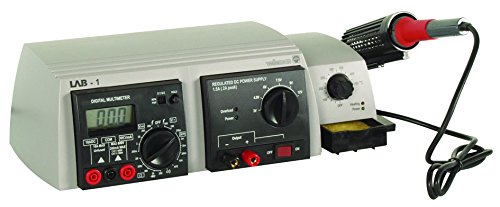 Velleman Instruments LAB1 3-in-1 Lab Unit include Multimeter/Power Supply and Soldering Iron