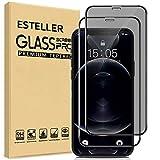 Esteller [2 Piezas] Protector de Pantalla de Privacidad Compatible con iPhone 13 Pro Max - Anti-Espía Cristal Templado...