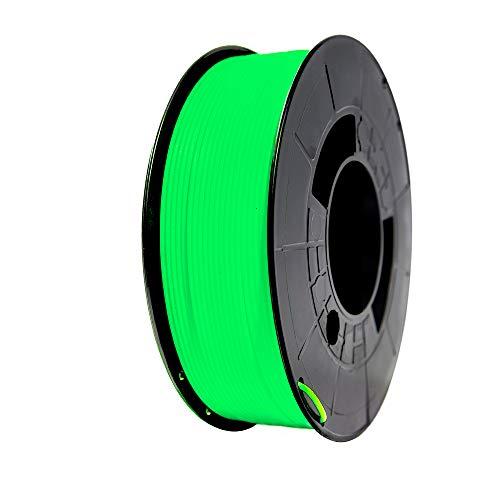 Winkle Filamento PLA | Pla 1.75mm | Filamento Impresión | Impresora 3D | Filamento 3D | Color Verde Fosforescente | Bobina 300gr