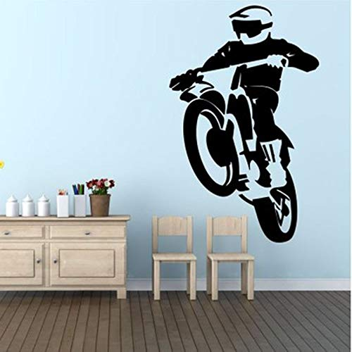 jiushivr Motorrad Aufkleber Auto Styling Sport Motocross Bike Wandtattoo Vinyl Aufkleber Wand Fenster LKW Auto Stoßstange Home Decoratio 81x128cm