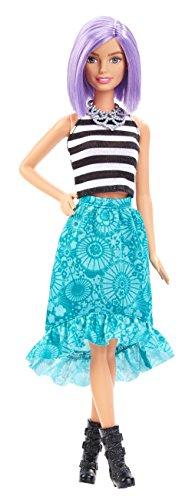 Mattel Barbie DGY59 - Modepuppe, Fashionista mit blauem Stufenrock