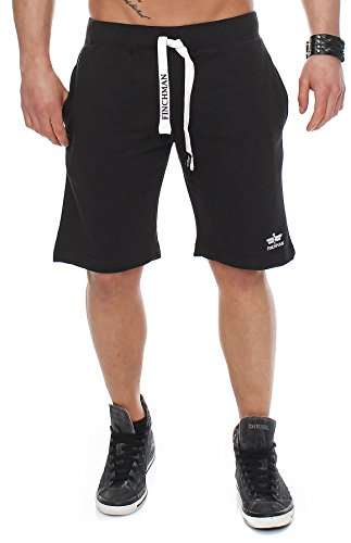 Finchman 89X3 Herren Cotton Sweat Short Kurze Hose Bermuda Schwarz M