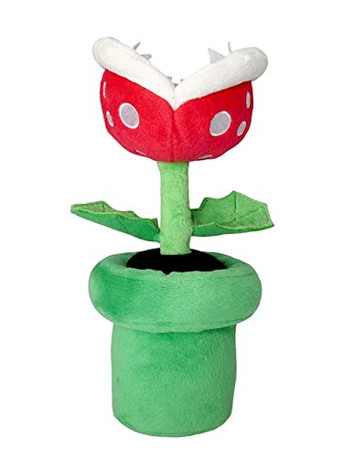 Little Buddy Super Mario All Star Collection 1594 Piranha Plant Stuffed Plush, 9'