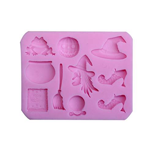 GuanjunLI Moule en silicone en forme de citrouille Halloween pour décoration de gâteaux, cupcakes, argile polymère, savon, cire