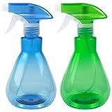 Disino 2 Piezas Botellas de Spray, Pulverizador Agua de Plástico Vacío 500ml, Botella de Spray...