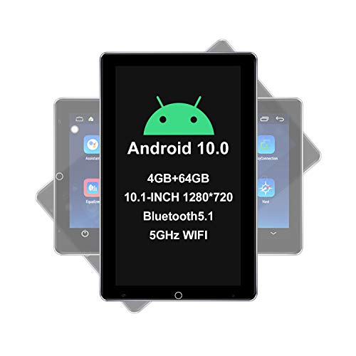 JOYING Android 10 Car Stereo 10.1 Inch Automatic Rotatable 1280 X720 Touchscreen Double Din Car Audio Receiver Support Bluetooth5.1/4G SIM Card Slot/Zlink/DSP/SPDIF