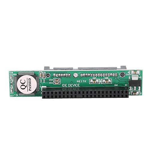 Jadpes 2,5 inch harde schijf adapterkaart, 2,5 inch harde schijf 22-polige Sata-bus op IDE 44-polige mannelijke adapterkaart (statische zakverpakking)