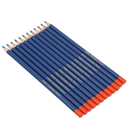 12pcs / set marcador de tela con mango de madera, portalápices premium, para confección de ropa y zapatos,