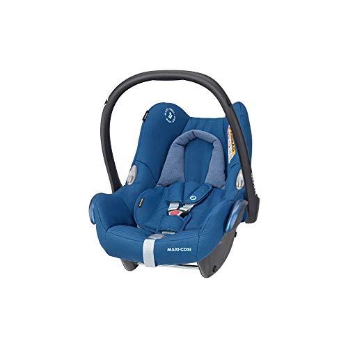 Maxi-Cosi CabrioFix Babyschale, Baby-Autositze Gruppe 0+ (0-13 kg), nutzbar bis ca. 12 Monate, passend für FamilyFix-Isofix Basisstation, Essential Blue (blau)