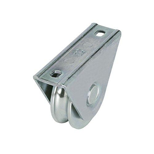 Laufrolle für Schiebetore Ø80 mm mit 20 mm Rundnute und Anschraubplatte