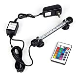 yywl Luces para acuarios del Acuario del LED RGB de Control Remoto del Tanque de Pescados de luz Sumergible IP68 a Prueba de Agua (Color : 18CM US Plug)