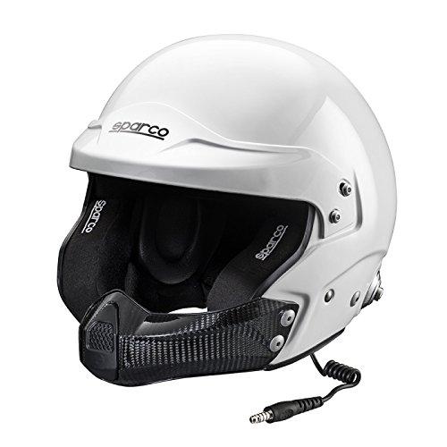 SPARCO S0033492M Casque Air Pro Kevlar Rj-5i / Fibre de Verre TG Fia. M Blanc