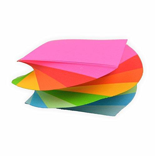 Spiral Notizklotz Spirale Zettelklotz gedreht in Regenbogen farben 80g/m², 280 Blatt in 5,5 x 5,5 cm geleimt