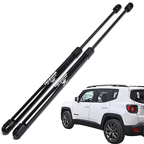 ZWMBAOR Haste de suporte da capa frontal para Jeep Renegade 2015-2021, alavanca hidráulica, instalação não destrutiva de molas a gás, suporte de elevação de choque, acessórios de carro