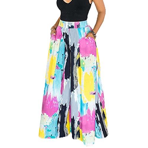 Moda De Primavera Y Verano Faldas Anchas De Pierna Ancha Y Pantalones De Cintura Alta para Mujer