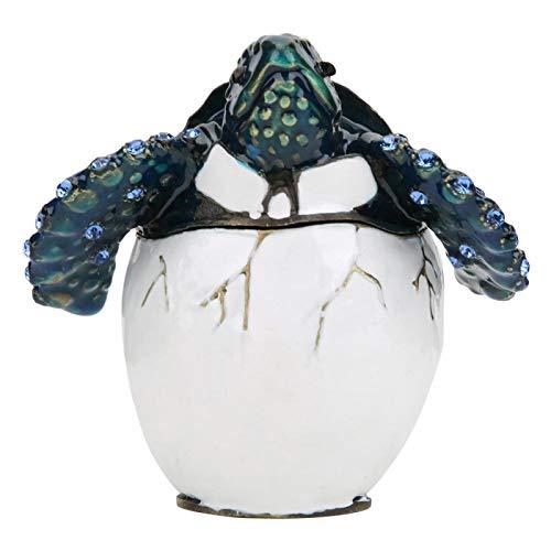 banapoy Adorno esmaltado, Regalo esmaltado, joyero, Huevos de Tortuga, Huevos de Pascua para Almacenamiento, Caja de joyería, exhibición, decoración del hogar