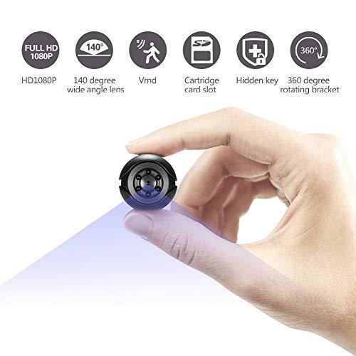 Mini-spionagecamera, HD 1080P kleine beveiligingscamera, draadloze verborgen nanny-camera met nachtzicht en bewegingsdetectie, binnen/buiten draagbare geheime camera voor thuis, auto, kantoor