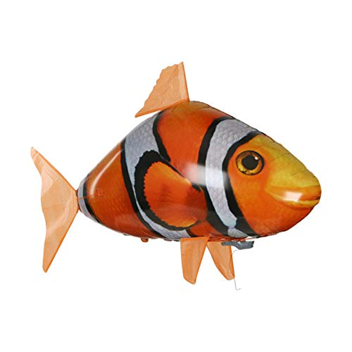 Kilinily Remote Control Flying Fish Inflatable Remote Air Swimmers Fish Toy,for Kids DIY Inflatable Balloon Toy,Children's Toy
