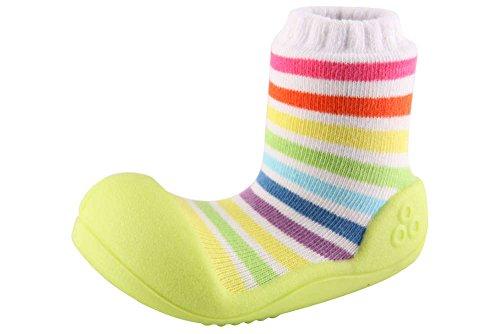 Attipas - Patucos de bebé unisex de algodón multicolor
