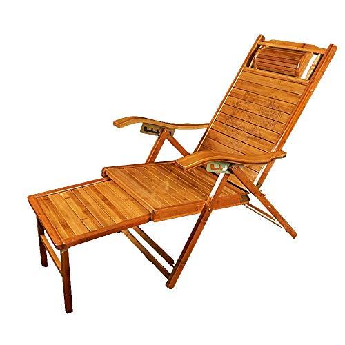 YLCJ Opvouwbare ligstoel eettafel in bamboe Kantoorbank Multifunctionele strandstoel Lounge stoel Patiostoel