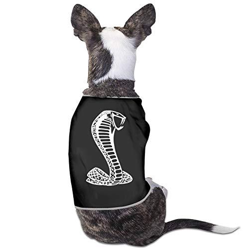 Black Mustang Cobra Sandwich Dog Cat Hoodies Pet Clothes Puppy Cute Warm Jumper Coat Sweater Black Medium