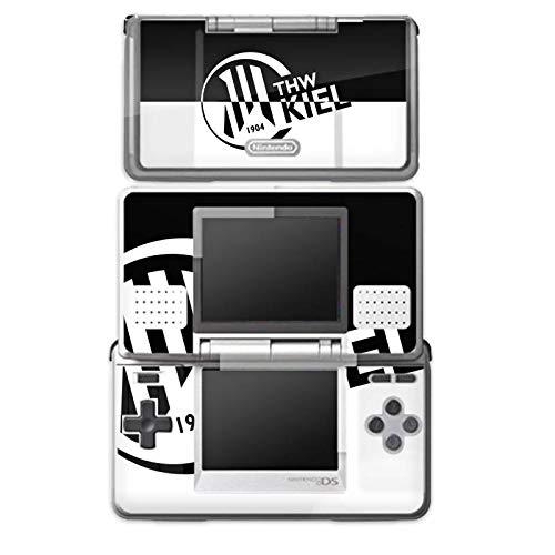 DeinDesign Skin kompatibel mit Nintendo DS Aufkleber Sticker Folie THW Kiel Handball Schwarz Weiss