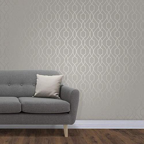 Fine Décor FD41996 UK Apex Wandtapete, Seitenwände, UK-Design, Taupe/Grey, Roll (10.05 x 0.52m approx.)