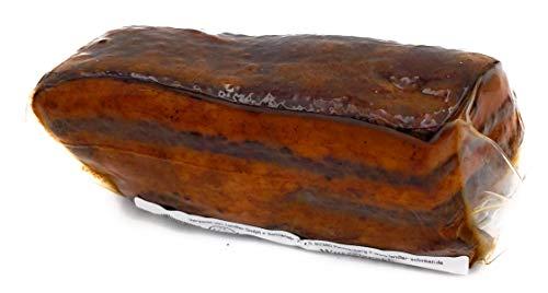 Landler | Wurzelspeck - mit einer Knoblauch-Pfeffermischung verfeinert 200 g - Schweinebauch heißgeräuchert sehr intensiv