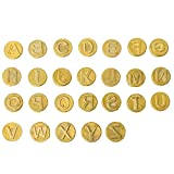 Toyvian Plantilla de Punta de Leña 26 Letras Punta de Hierro Tallado para Pirograbado Soldadura Trabajo Tallado Relieve Artesanía Bricolaje