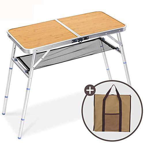 Pc-HXG Mesa Plegable, Mesa Plegable portátil para Acampar, Mesa para Maletas Ajustable en Altura,Uso en Interiores al Aire Libre para Barbacoa Picnic Fiestas en el jardín