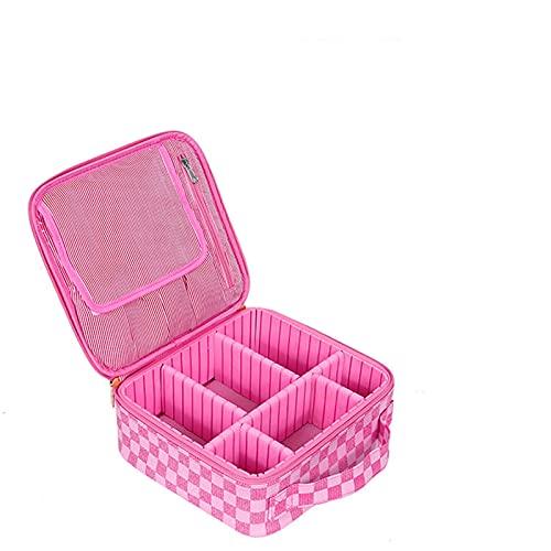 Gaviny Sac cosmétique, Sac cosmétique de Voyage PU imperméable de Grande capacité, Grande boîte de Rangement cosmétique pour Artiste Dame