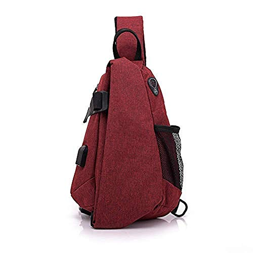 Waterroof Backpack for Outdoor Hiking Camping Travel 2L Chest Bag Gym Fitness Sports Exquisite Appearance/red/As Shown