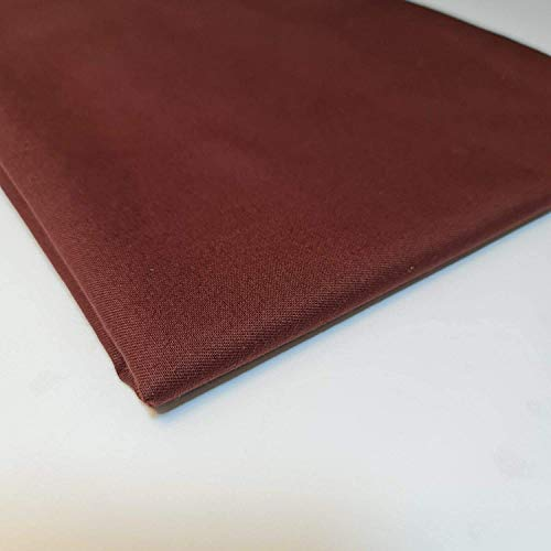 Textile Station 5 Meter Plain Thick 100% Cotton Drill Workwear Twill Fabric 150 cm Wide (Brown)