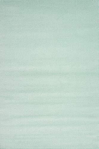 Livone Hochwertiger Jugendteppich Kinderteppich Baby Teppich Kinderzimmer Uni einfarbig in Mint Größe 120 x 170 cm