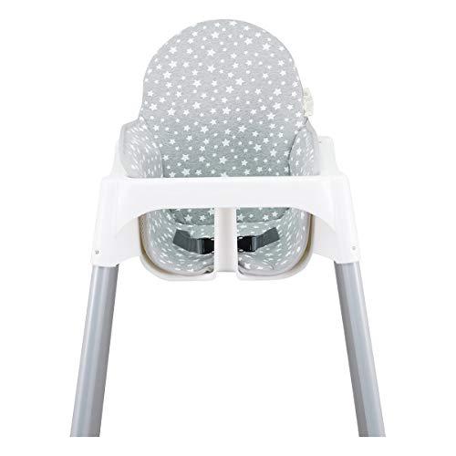 JANABEBE Colchoneta para trona antilop Ikea (White Star)