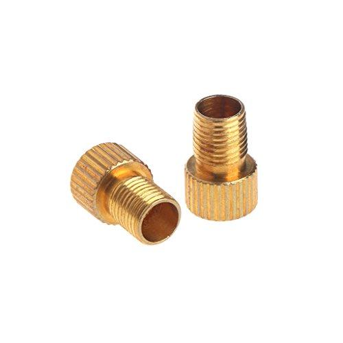 2 adaptateurs de valve de vélo en cuivre pour convertir Presta en valve Schrade