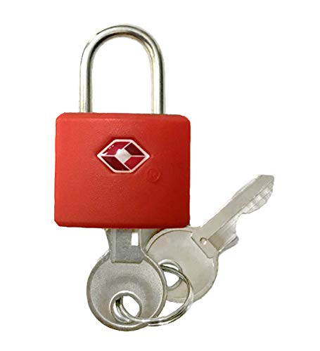 Logic(ロジック) TSA対応 ロックフック型 南京錠 (レッド) シンプル 小型 鍵 [郵便受け/スーツケース/旅行]